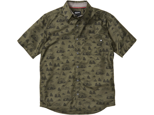 Marmot Syrocco SS Shirt Men, nori camping